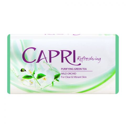 Capri Refreshing Purifying Green Tea Soap, Green, Wild Orchid, 140g