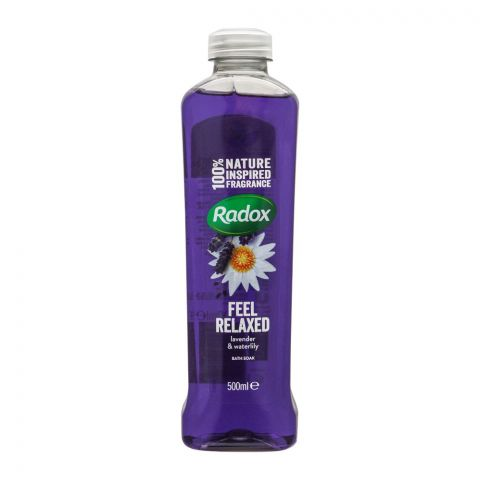 Radox Feel Relaxed Lavender & Water Lily Bath Soak, 500ml