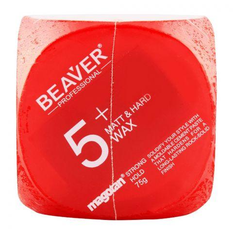 Beaver Professional 5+ Magotan Matt & Hard Strong Hold Wax 75g