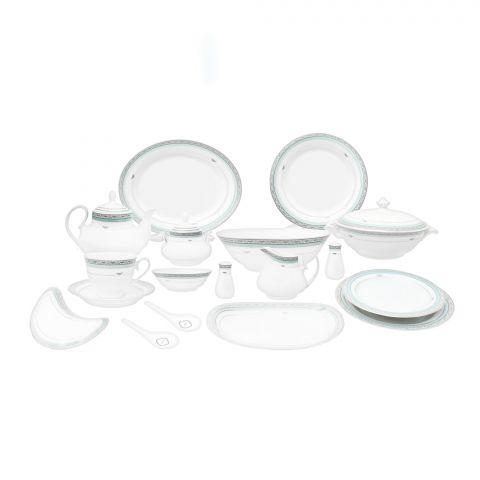 Cera-E-Noor Elegant Cinzia Green Dinner Set 72's # 611011
