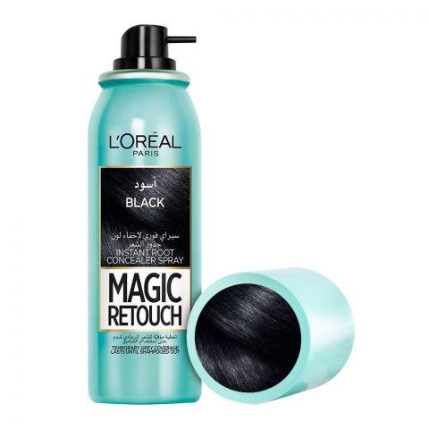 L'Oreal Paris Magic Retouch Instant Root Concealer Spray, Black, 75ml