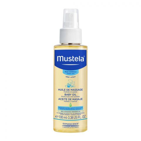 Mustela Massage Baby Oil, Normal Skin, 100ml