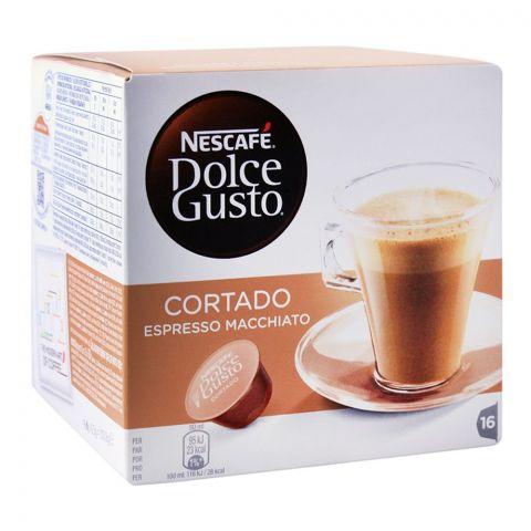 Nescafe Dolce Gusto Cortado Espresso Macchiato Capsules, 16 Single Serve Pods