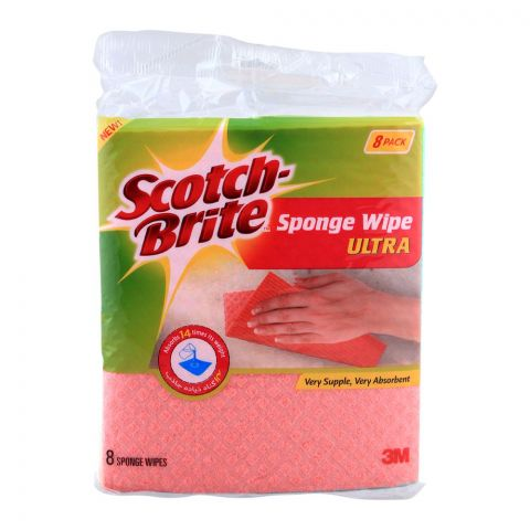 Scotch Brite Sponge Wipe Ultra, 8-Pack