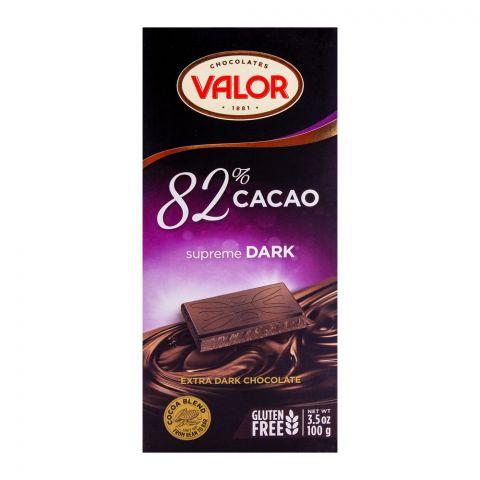 Valor Dark Chocolate 82%, Supreme 100g
