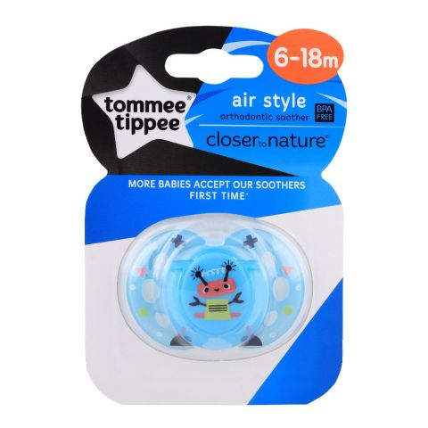Tommee Tippee Air Style Soother 6-18m (Blue) - 433377/38