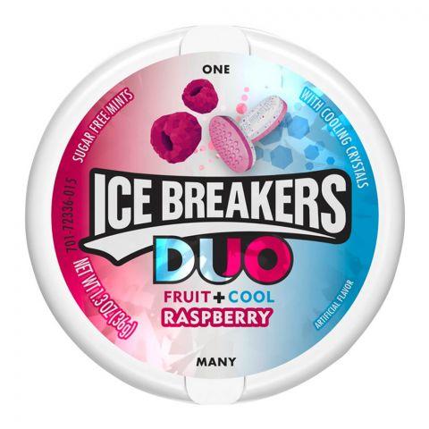 Ice Breakers Duo Fruit + Cool Raspberry Mints, Sugar Free, 36g