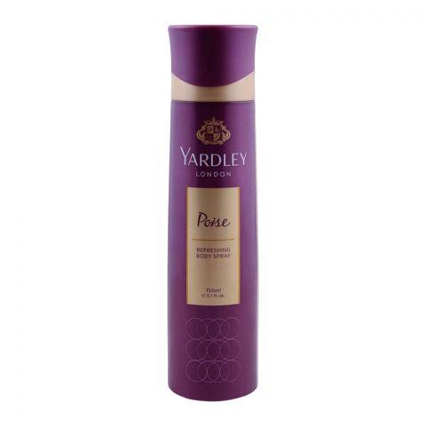 Yardley Poise Deodorant Body Spray, For Women, 150ml