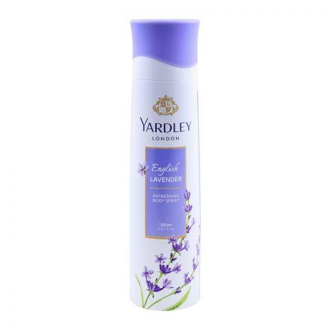 Yardley English Lavender Deodorant Body Spray, For Women, 150ml