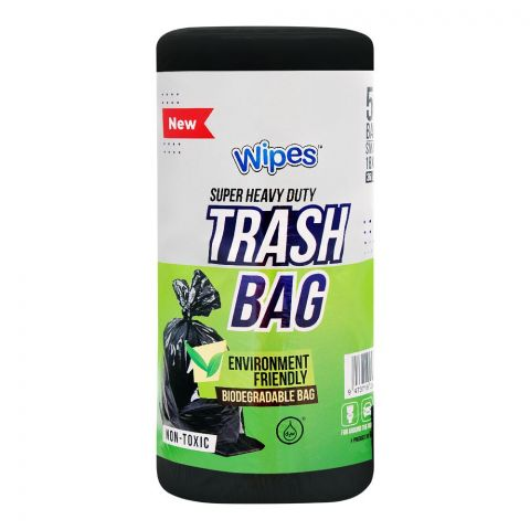 Wipes Trash Bags, Small, 18x24 Inches, 50-Pack