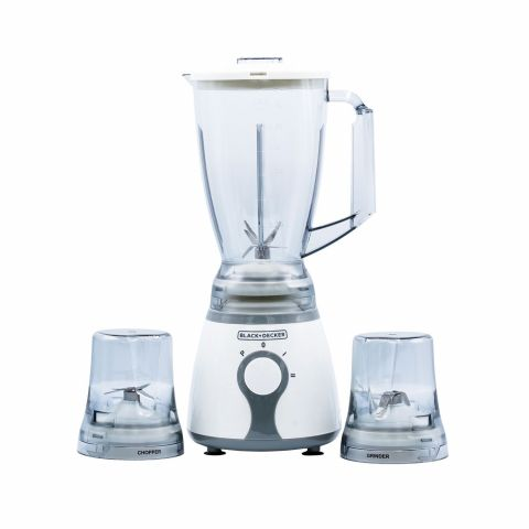 Black & Decker Blender With Chopper & Grinder, 300W, BX275