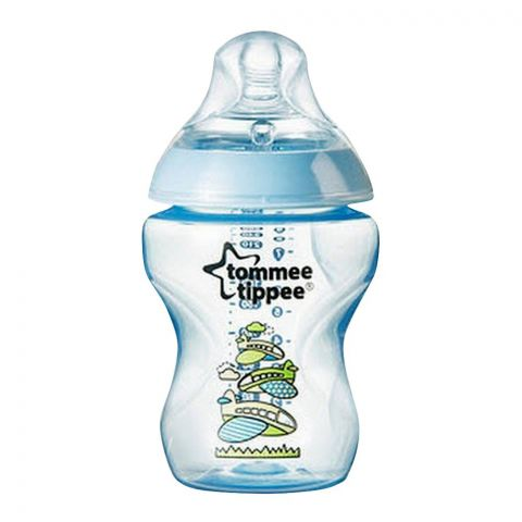 Tommee Tippee 0m+ Slow Flow Decorated Feeding Bottle 260ml (Aeroplanes) - 422572/38