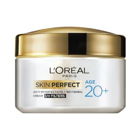 L'Oreal Paris Skin Perfect Anti-Imperfections + Whitening Cream, Age 20+, 50g