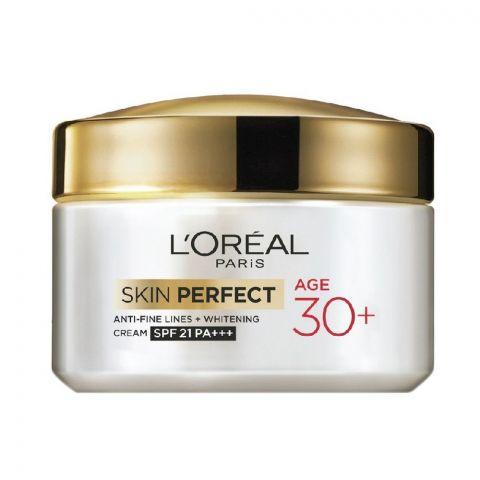 L'Oreal Paris Skin Perfect Anti-Fine Lines + Whitening SPF 21 PA+++ Cream, Age 30+, 50g