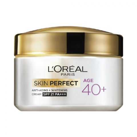 L'Oreal Paris Skin Perfect Anti-Aging + Whitening SPF 21 PA+++ Cream, Age 40+, 50g