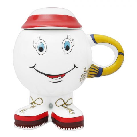 Cera-E-Noor Prism Decorated Smiley Face Candyman Mug With Lid