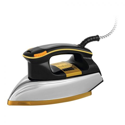 Black & Decker Heavy Weight Dry Iron, Black/Golden, 1200 Watts, F550