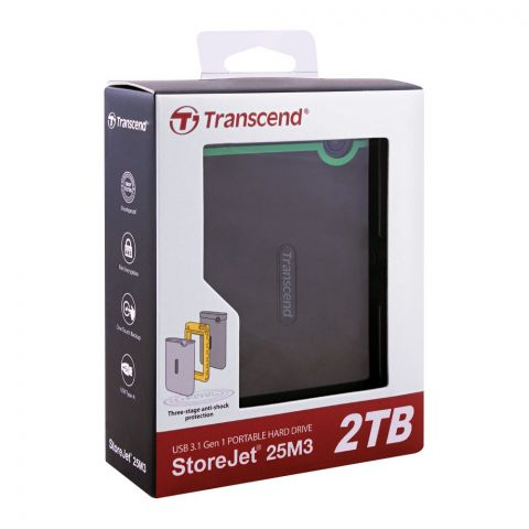 Transcend StoreJet 25M3 Portable USB 3.1 Hard Drive 2TB