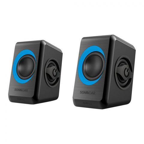 SonicEar Quatro 2 2.0 USB Speaker, Blue