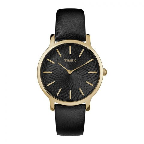 Timex Women's Metropolitan 34mm Watch, Black/Gold - TW2R36400