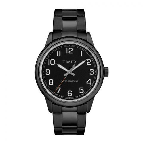 Timex Men's New England Black Stainless-Steel Bracelet Watch - TW2R36800