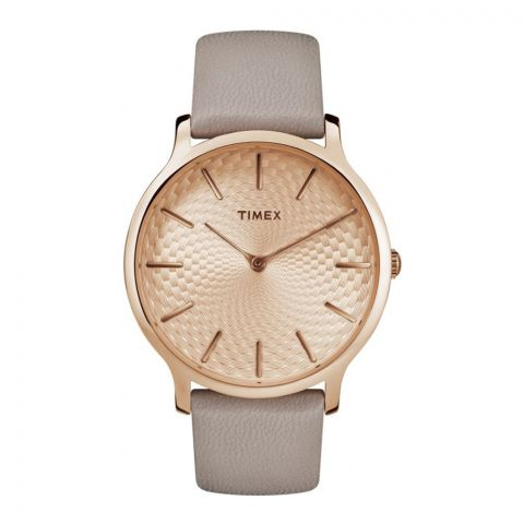 Timex Women's Metropolitan 40mm Watch, Gold/Gray - TW2R49500