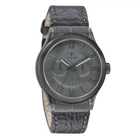 Titan Quartz Black Dial Men's Watch, 90051QL01