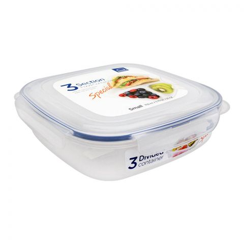 Lock & Lock 3 Divided Food Container, Small, 750ml, LLHPL971