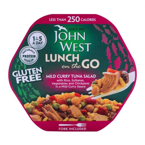 John West Mild Curry Style Tuna Salad, Lunch On The Go 220g