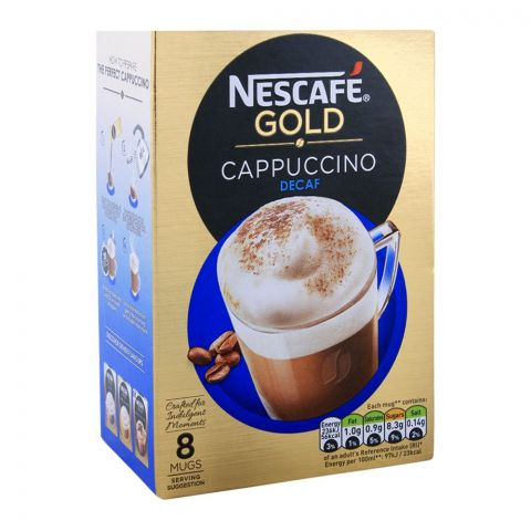 Nescafe Gold Cappuccino Decaff Coffee 8x15g