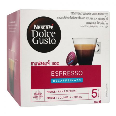 Nescafe Dolce Gusto Espresso Decaffeinato Arabica, 16 Single Serve Pods