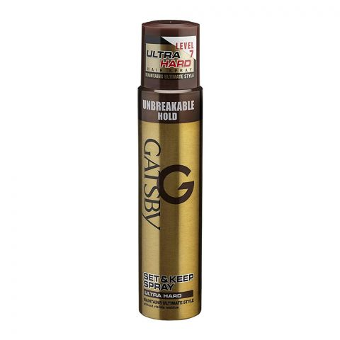 Gatsby Set & Keep Unbreakable Ultra Hard Hair Spray, 200ml + 50ml Extra, Level 7