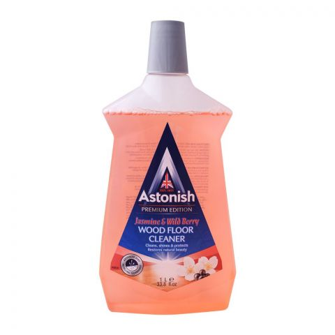 Astonish Wood Floor Cleaner, Jasmine & Wild Berry, 1 Liter