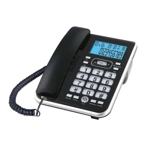 Sanford Caller ID Landline Corded Phone, Black, SF344TL