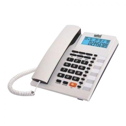 Sanford Caller ID Landline Corded Phone, White, SF300TL