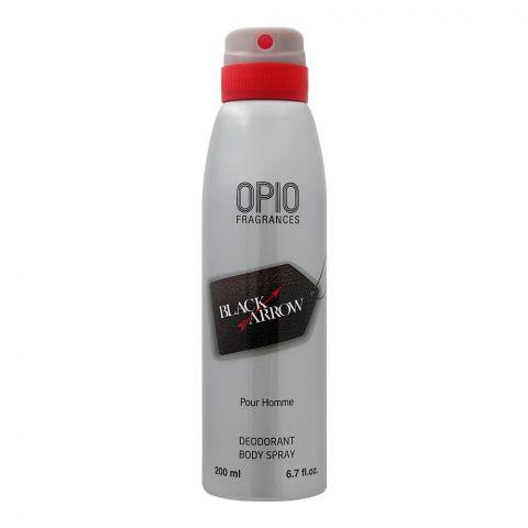 Opio Black Arrow Deodorant Body Spray, For Men, 200ml