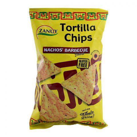 Zanuy Nachos Tortilla Chips, BBQ Flavor, Gluten Free, 200g