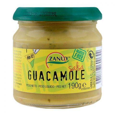 Zanuy Salsa Dip, Guacamole, Gluten Free, 190g