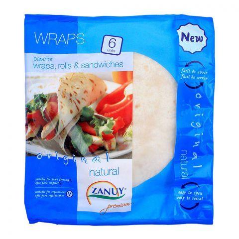 Zanuy Wraps, Original Natural, 6-Pack