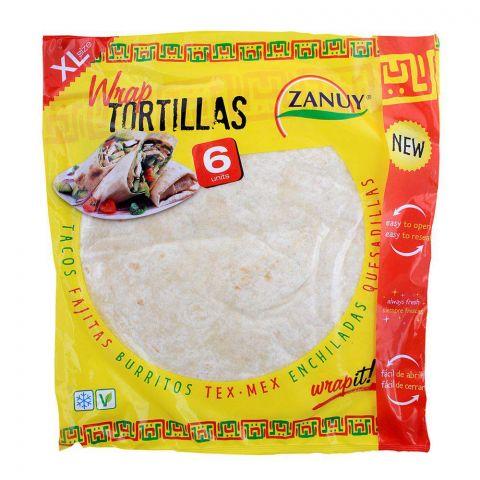 Zanuy Wraps Tortillas, XL, 6-Pack