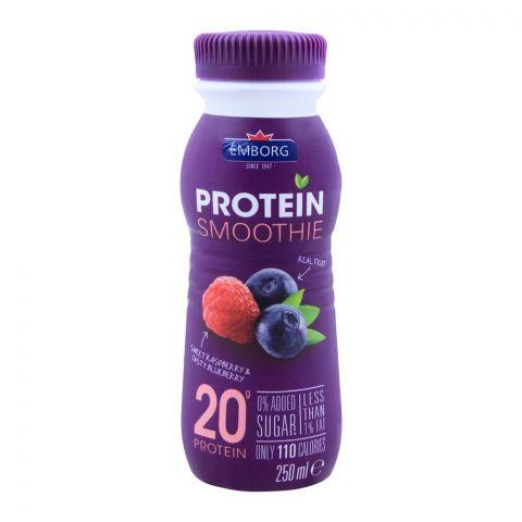 Emborg Protein Smoothie Raspberry & Blueberry 250ml