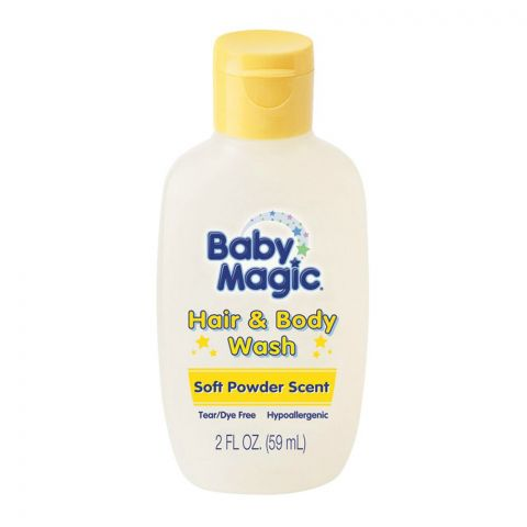 Baby Magic Hair & Body Wash, Soft Powder Scent, 59ml