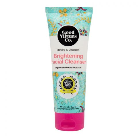 Good Virtues Co Brightening Facial Cleanser, 100ml