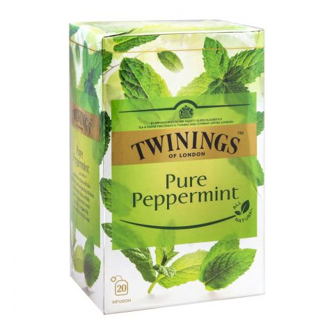 Twinings Pure Peppermint Tea Bags, 20-Pack