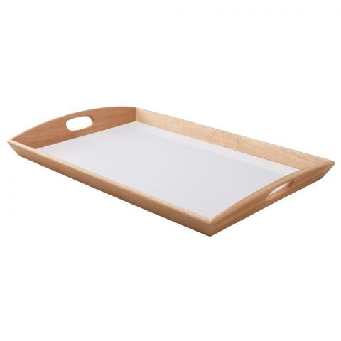 IKEA Klack Tray Rubberwood, 15x23 Inches, 06410406