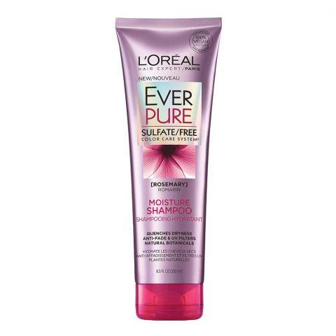 L'Oreal Paris Ever Pure Rosemary Moisture Shampoo, Sulfate Free, Color Care System, 250ml