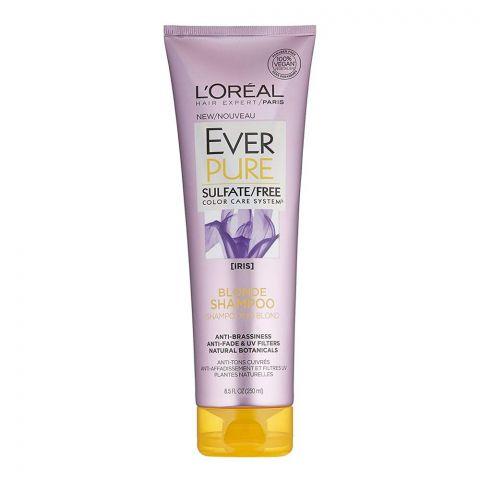 L'Oreal Paris Ever Pure Iris Blonde Shampoo, Sulfate Free, Color Care System, 250ml