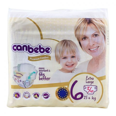 Canbebe Premium Comfort, No. 6, XL 15+ KG, 36-Pack Diapers