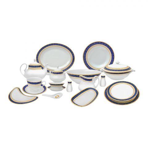 Cera-E-Noor Elegant Cheyenne Blue Dinner Set, 72 Pieces, 611011