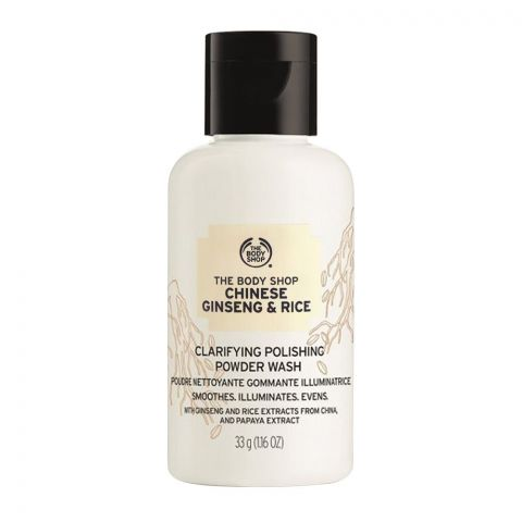 The Body Shop Chinese Ginseng & Rice Clarifying Polishing Powder Wash, 33g
